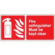Fire safety sign - Fire Extinguisher Must 033